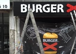 Galvaniz Kutu Harf Siyah tabela Tabela burger x besiktas 260x185